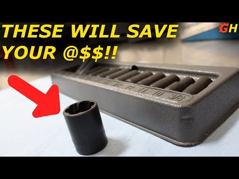 REMOVING ROUNDED OFF NUTS & BOLTS WITH A TWIST SOCKET SET!!