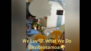 Customers at EziBro Juice Bar Samoa