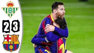 Барселона Бетис 3 2 Обзор Матча Чемпионата Испании 07 02 2021 HD
