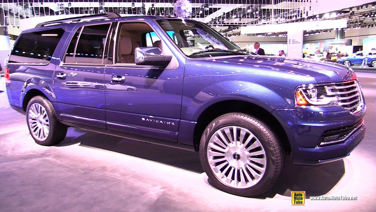 2017 lincoln navigator select exterior and interior walkaround 2016 la auto show youtube
