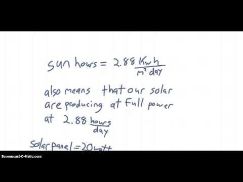 Solar System Design Notes