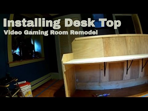 Video Dominion - Installing the desk top to the Video Gaming Desk with metal brackets - normal speed