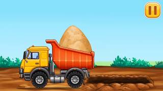 Fun Construction Games for Children Little Builders Kids Games#Trucks Cranes & Digger GAME PLAY