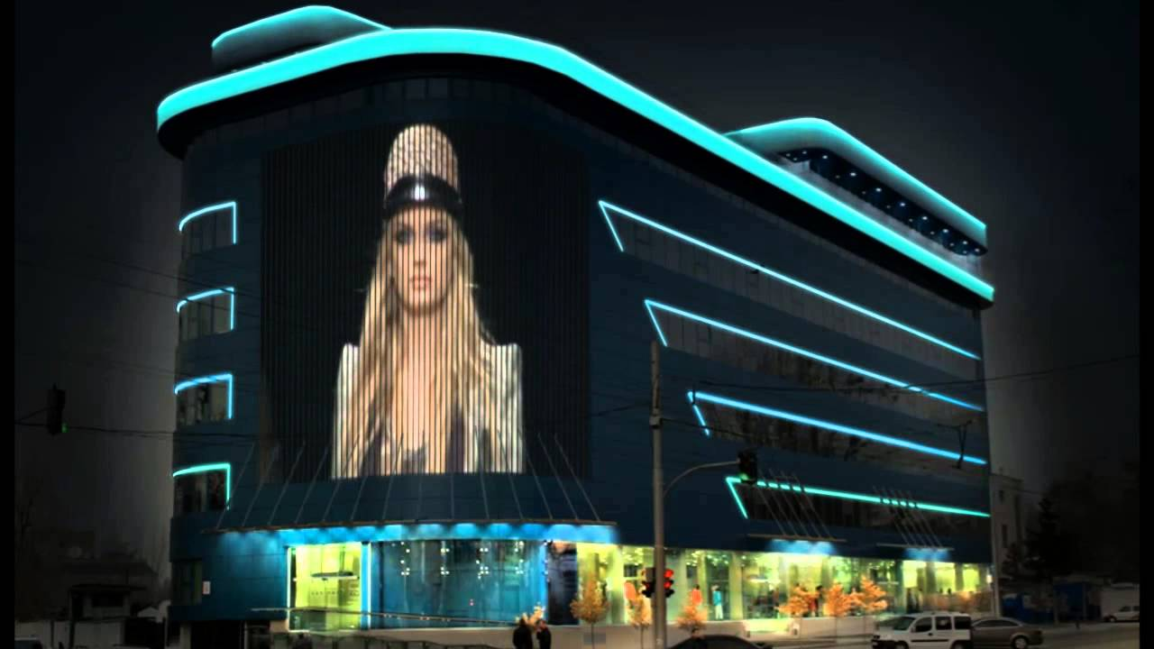 Освещение фасада здания Медиафасад от ТЕХНОИНТЕР ГРУП