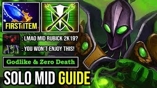 HOW TO SOLO MIID & FAST FARM RUBICK IN 7.23E Ultra Fast Casting Spell & 100% Deleted SF DotA 2
