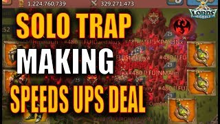 1BIL PLAYER MYTHIC VS SOLO TRAP DURING KVK - LORDS MOBILE