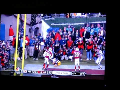 Pittsburgh Steelers Santonio Holmes Catch Reaction