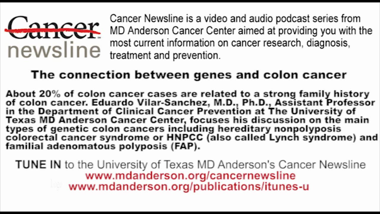 The Connection Between Genes And Colon Cancer Youtube