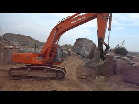 Tata Hitachi ZX 370 LCH   Market Leader in Granite Handling