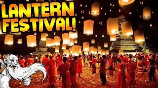 'LOY KRATHONG LANTERN FESTIVAL!!!' - Hermit Around The World Travel Vlog - Chiang Mai, Thailand