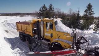 Busting Through a GIANT Snow Bank in a 6x6 Western Star