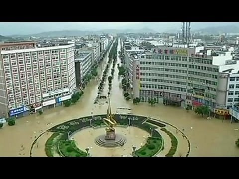 Typhoon Fitow causes flooding and devastation to China's southeastern Zhejiang and Fujian regions