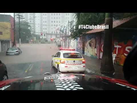 Troller no Alagamento, Taboão da Serra SP - Troller na enchente
