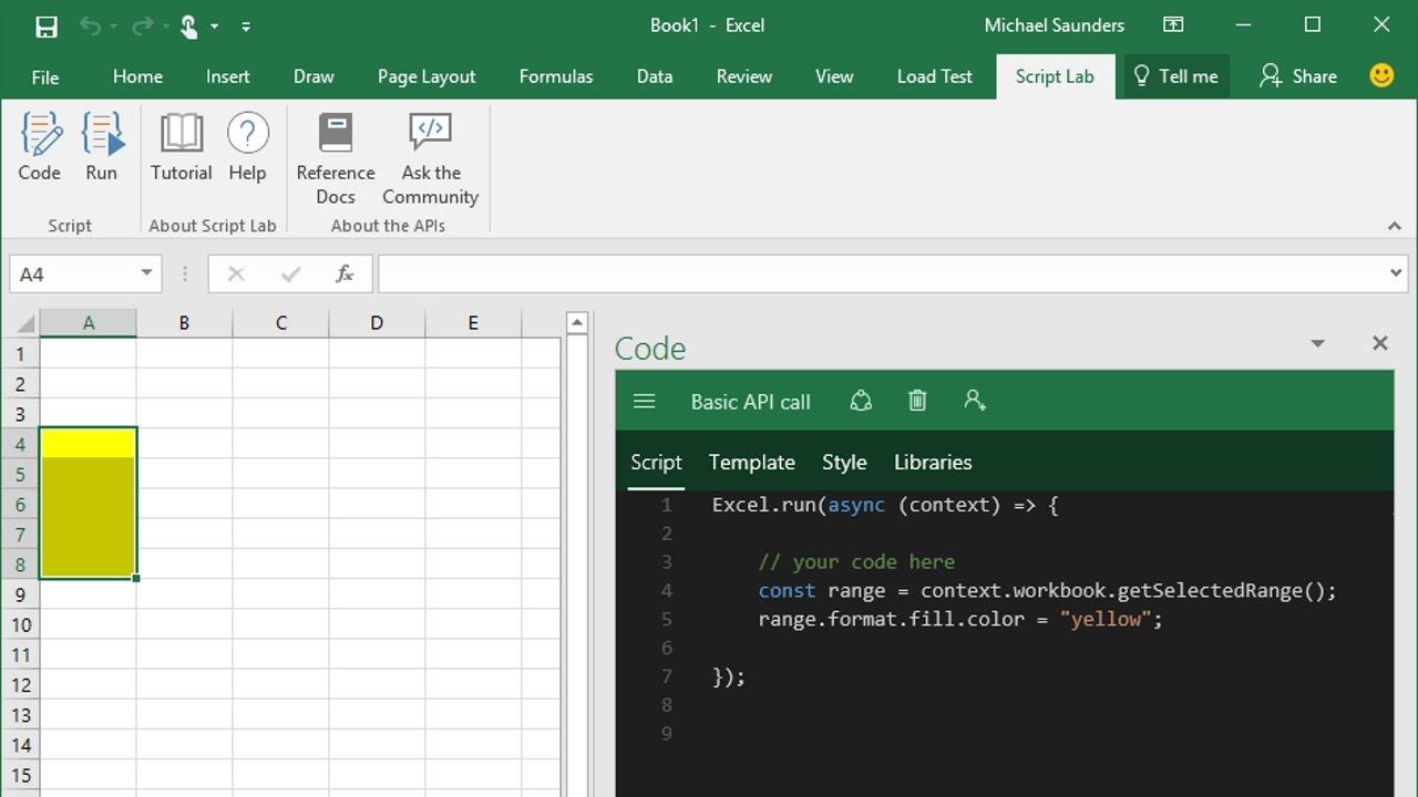 Microsoft Garage: Script Lab - an Office add-in