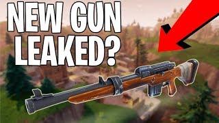FORTNITE NEW ASSAULT RIFLE GUN LEAKED? - Fortnite Battle Royale Leaked Content