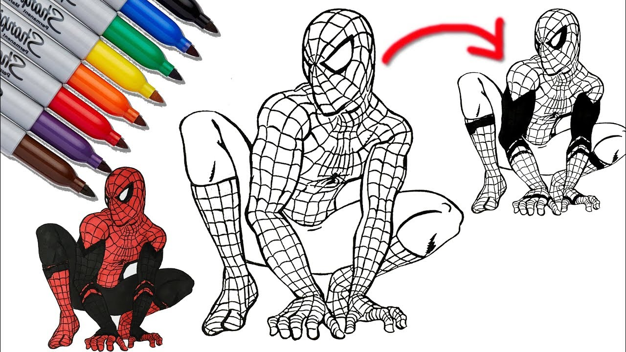 Spider Man To Spider Man Far From Home Coloring Pages Sailany Coloring Kids