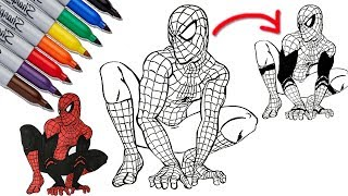 SPIDER-MAN to SPIDER-MAN Far From Home Coloring Pages | SAILANY Coloring Kids