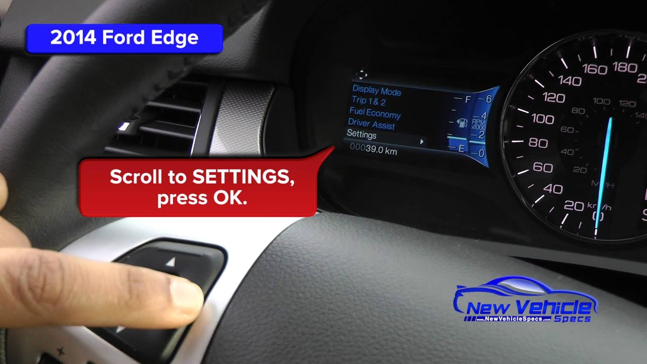 2015 Ford Edge Oil Light Reset Service Light Reset Youtube