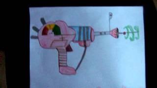 Ray gun drawing
