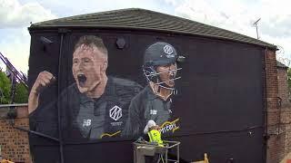 Matt Parkinson & Harmanpreet Kaur - Manchester Originals Mural time-lapse