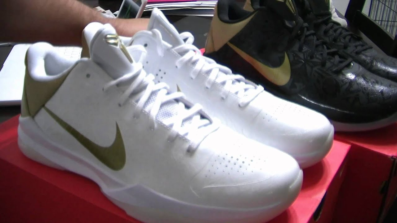 super popular 9868c ad456 Nike Air Zoom Kobe V Big Stages Big Stage Home and Away White Metallic Gold  Limited TSS 37