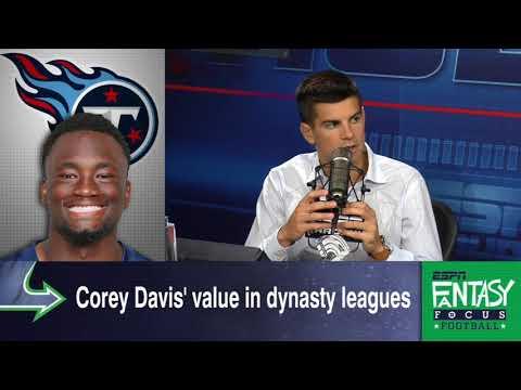 Don't Sleep On WR Corey Davis In Dynasty Leagues | Fantasy Focus | ESPN