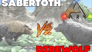 Битва в ARK Survival Evolved | Лютволк против Саблезуба | Direwolf vs Sabertoth(Лучшие русские сервера в ARK - https://vk.com/rusark Теперь в FULL HD + 60 FPS!, 2016-08-29T13:56:11.000Z)