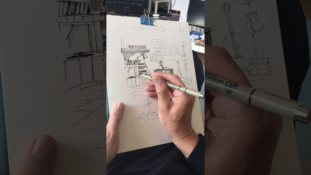 #iostoacasa timelapse sketching
