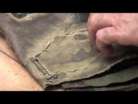 Wax Jacket Repair for rips in Barbour or Drizabone Coats Part 2