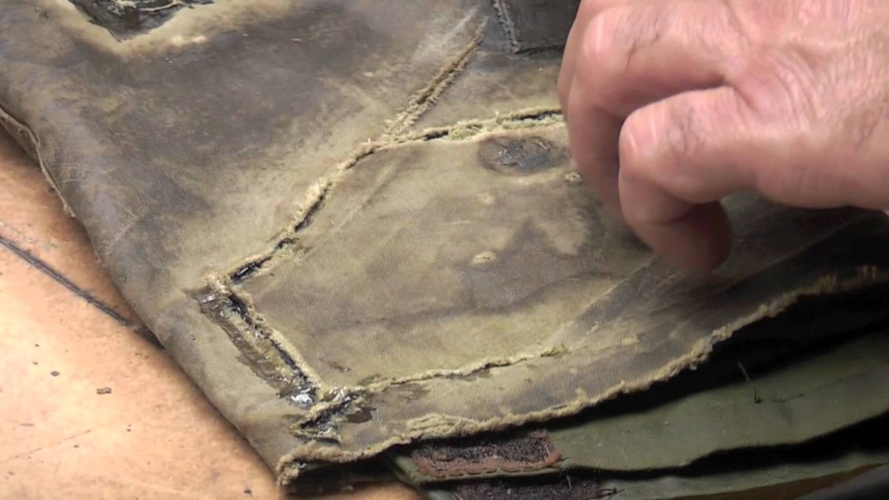Leather jacket repair kit - Wax Jacket Repair For Rips In Barbour Or Drizabone Coats Part 2