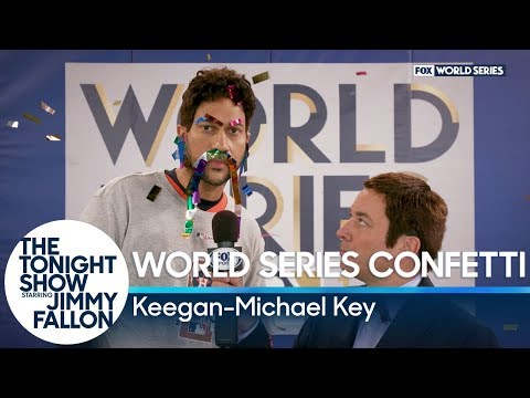World Series Confetti with Keegan-Michael Key