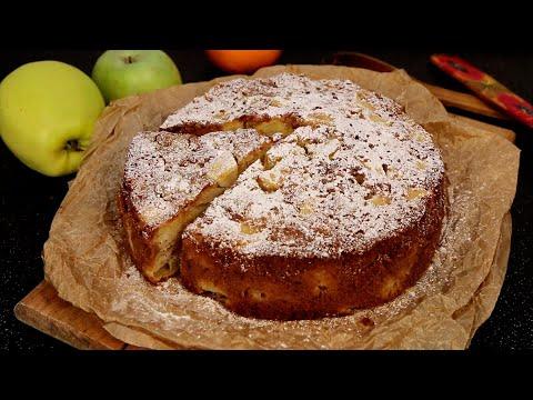 Необычная Шарлотка с яблоками/Ароматная/Влажная/Нежная