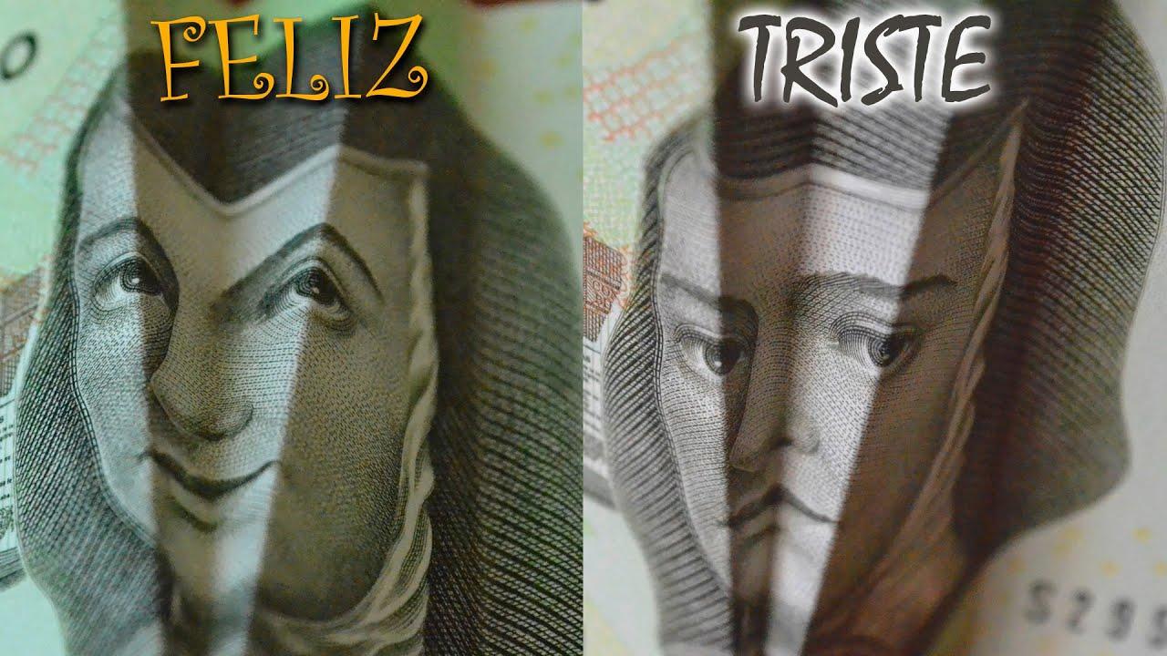 TUS BILLETES SONRÍEN - BANKNOTES SMILING AND SAD FACES