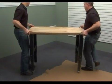 Gladiator Installation 6 Foot Modular Workbench Youtube