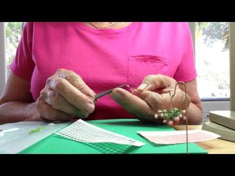 Making Dolls house Miniature 1/4 scale fuchsia
