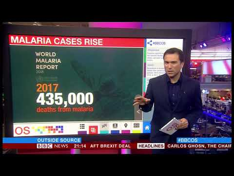 Malaria cases rise (Global) - BBC News - 19th November 2018