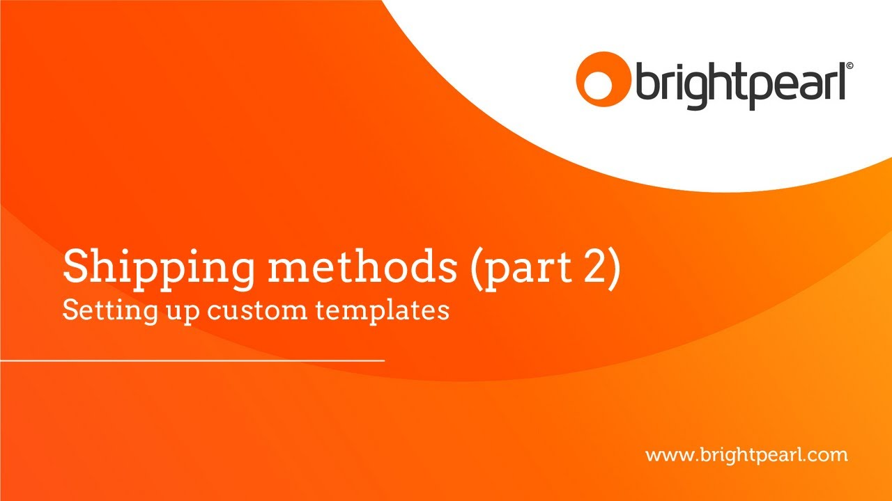 Shipping Label Templates Brightpearl YouTube - Custom shipping label template
