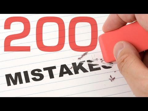 200 MISTAKES IN ENGLISH. Learn English grammar lessons for beginners and intermediate - full course