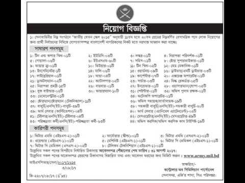 বাংলাদেশ সেনাবাহিনীতে ৪০০ টি বেসামরিক পদের বিশাল নিয়োগ বিজ্ঞপ্তি প্রকাশ Bangla Job News