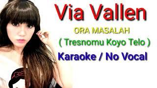 Ora Masalah ( Tresnomu Koyo Telo ) Via Vallen - Full Lirik Karaoke terbaru ( cover )