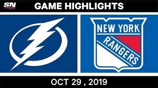 NHL Highlights   Lightning vs. Rangers – Oct. 29, 2019