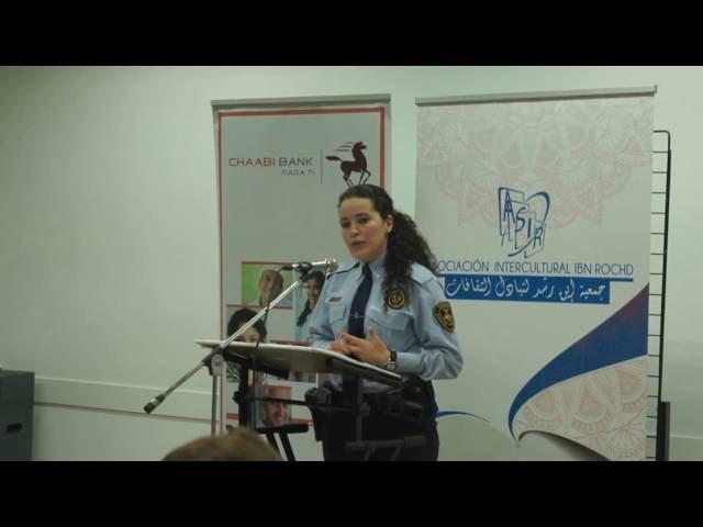Ikram Benktib en el homenaje del día internacional de la mujer 2016
