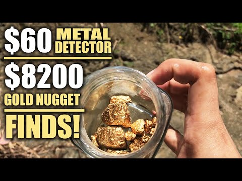 $60 Metal Detector's INSANE FINDS of $8200 worth of River Gold Nuggets