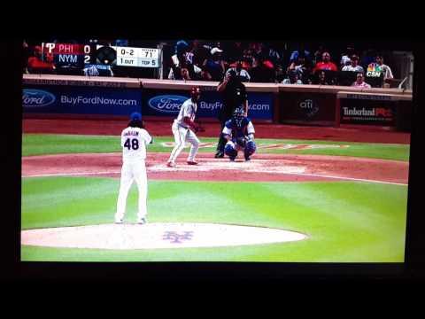 Nick Williams 2nd MLB at bat. 63017
