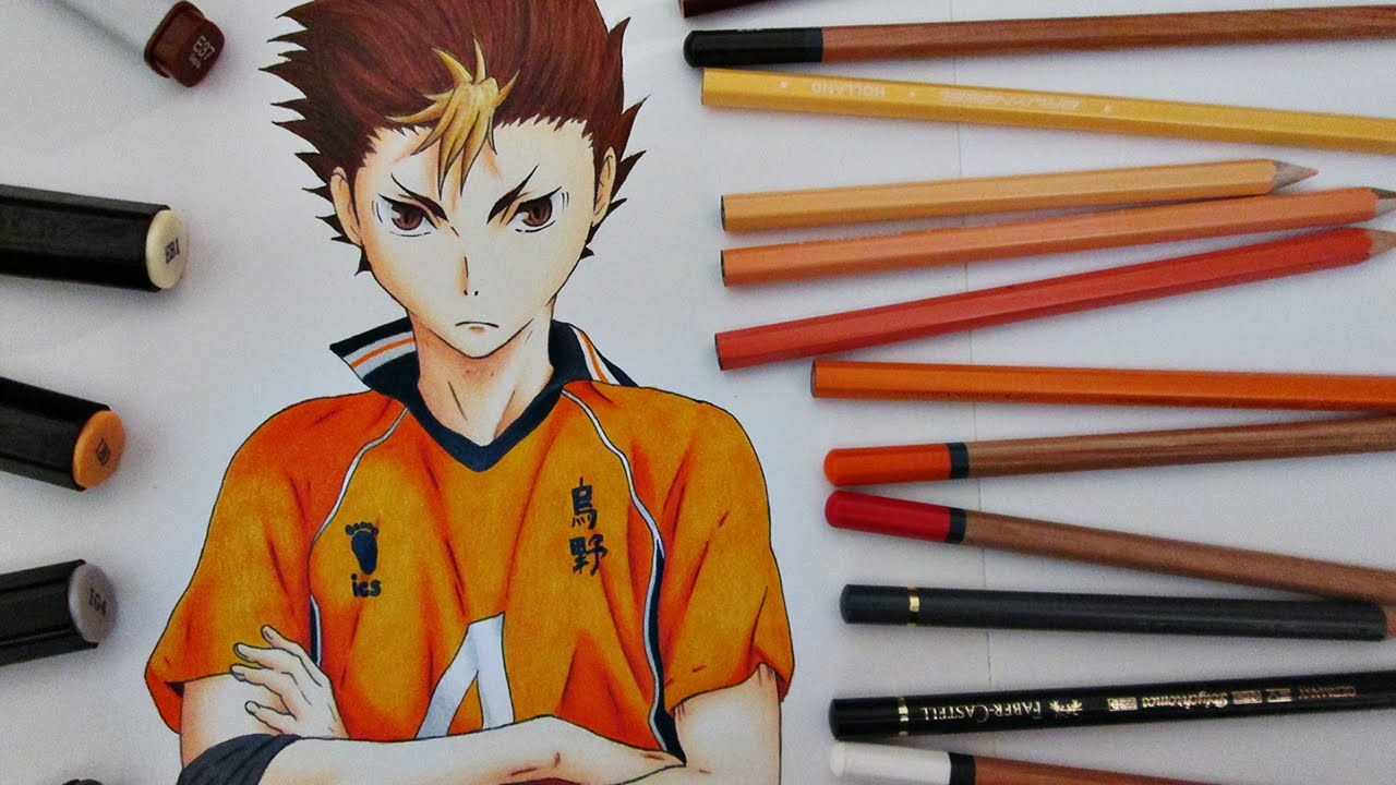 Speed Drawing Yuu Nishinoya || Haikyuu!! - YouTube