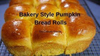 Chinese Bakery Style Pumpkin Rolls