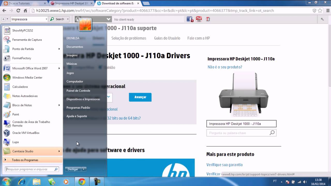driver da impressora hp c4480 para windows 7