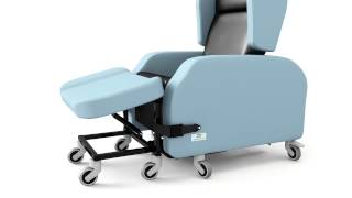 Atlanta chair, for patients with Huntington's disease, dementia, aids safety & reduces injury risk
