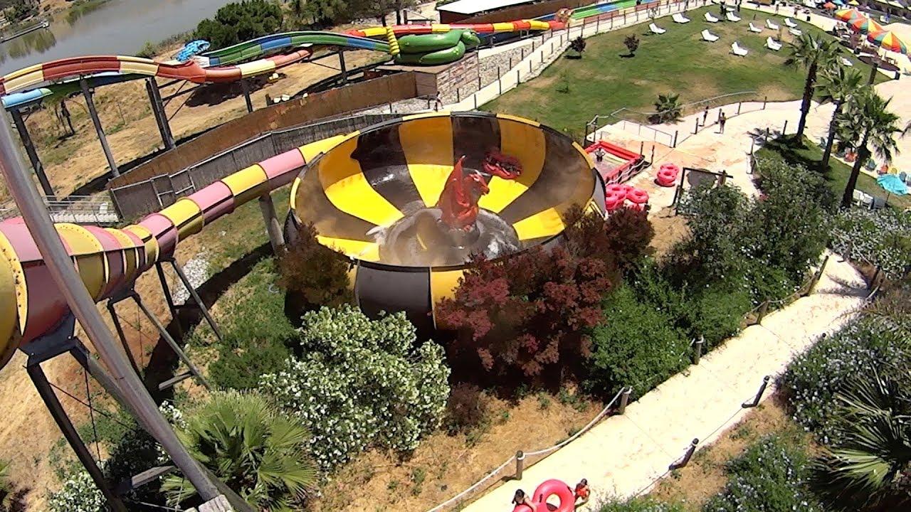 Dragon\'s Den Water Slide at Raging Waters San Jose - YouTube
