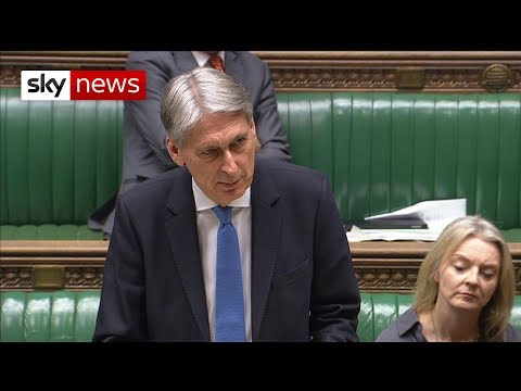 """Chancellor Philip Hammond: It's a """"delusion"""" to think Brexit deal can be renegotiated"""